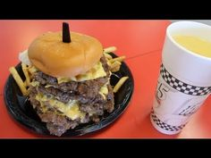 Eating A 50oz Cheeseburger, 8oz Fries, 24oz Drink in 2:29 (New Record) | Furious Pete - YouTube