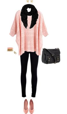 """""""Pink, Pretty, and Comfy."""" by meg5494 on Polyvore"""
