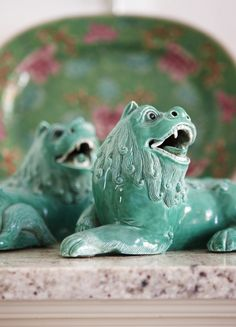 A pair of Chinese foo dogs