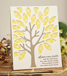 Leaves Fall Card by Ashley Cannon Newell for Papertrey Ink (August 2013)