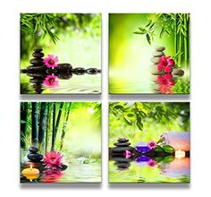 Zen Wall Decor canvas print wall art paintings for home decor black zen stones