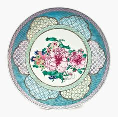 A finely enamelled famille rose dish, Yongzheng period (1723-1735). 7 ¾ in (19.6 cm) diameter. Estimate $4,000-$6,000. This work is offered in Collected in America Chinese Ceramics from The Metropolitan Museum of Art on 15 September at Christies New York