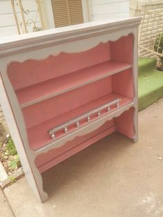 Pink and gray shelf   KRAZY'S KREATIONS!
