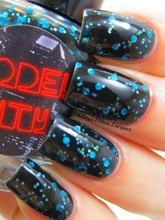 Blue in the night sky. Nail Designs 2015, Long Nail Designs, Nails 2015, Nail Time, Get Nails, Blue Nails, Long Nails, Diy Hairstyles, Nails Inspiration