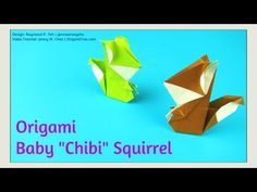 Origami Squirrel - Origami Baby Chibi Squirrel - Origami Squirrel Tutorial - Paper Crafts - YouTube