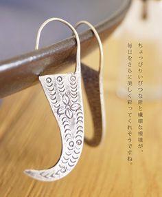 【楽天市場】「mori」シルエットで魅せる。カレンシルバーのピアス。12月22日22時販売新作:cawaii