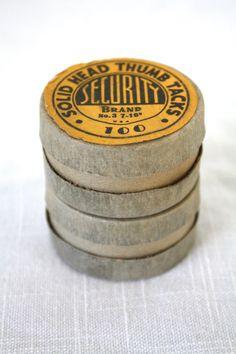 Vintage Mid Century Thumb Tacks