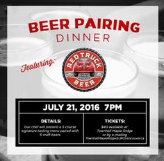 Townhall Maple Ridge Presents The Red Truck Craft Beer Pairing Dinner!