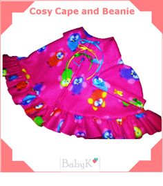 Lovely for winter! BabyK Cosy Cape and Beanie. Cosy, Custom Made, Beanie, Summer Dresses, Winter, Girls, Outfits, Design, Fashion