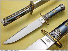 Knifemaker Dr Fred Carter.  ShParpByCoop • Gallery of Handmade Knives