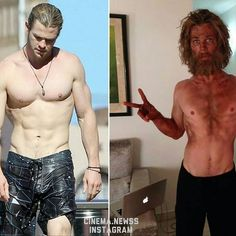 Chris Hemsworth - lost alotta weight for his role In the Heart of the Sea