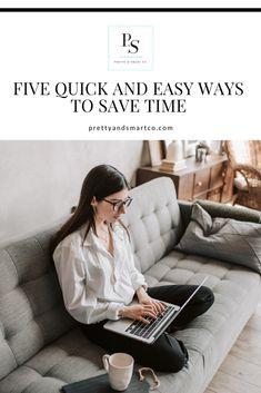 #prettyandsmartco #productivityhacks #workingmom #workfromhome #workhard #worksmart Productivity Hacks, Finance Tips, Ways To Save, Work Hard, Pretty, Easy, Blog, Working Hard, Blogging