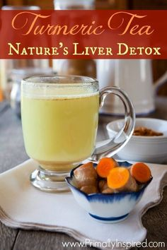 Learn how you can detox your liver by making a delicious and soothing turmeric tea using the powerful liver cleansing herb, turmeric. #LiverDetoxDrink