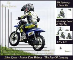 Bike Sport Junior Dirt Biking The Joy Of Leaping Tag  on Craftsuprint - Add To Basket!