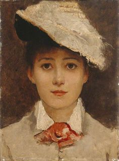 "centuriespast: "" Self Portrait Louise Jopling (1843–1933) Manchester Art Gallery """