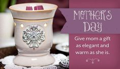 Beautiful warmer with medallion.  Mother's Day with Scentsy