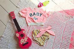 Dear Lucy pink swimsuit