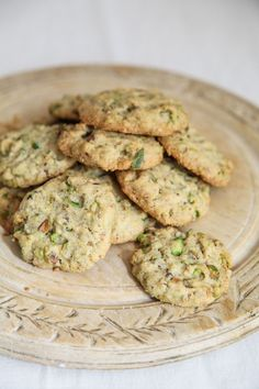 Lemon and Pistachio Biscuits - Makes 24  ( Not  very sweet in taste, but, if preferred, substitute certain ingredients to sweeten )