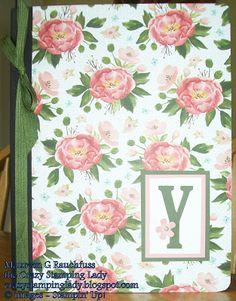 Monogrammed Journal, www.crazystampinglady.blogspot.com, Maureen Rauchfuss