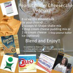 Peanut Butter Cheesecake Shake | i 90 Day Challenge