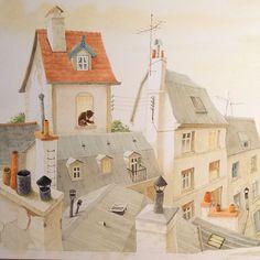 Moitié d'une large illustration (acrylique) New Children's Books, Decoration, My Drawings, Childrens Books, Illustrators, Illustration Art, Artsy, Watercolor, Suddenly