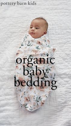 Patterned with painterly petals and leaves, our baby bedding adds breezy, calm and casual style to the nursery.