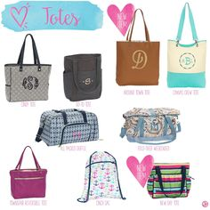 Totes by Thirty-One. Spring/Summer 2016. Click to order. Join my VIP Facebook Page at https://www.facebook.com/groups/1603655576518592/