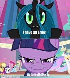 bahahahahahaha love this we have fluttershy mlp my little pony friendship is magic