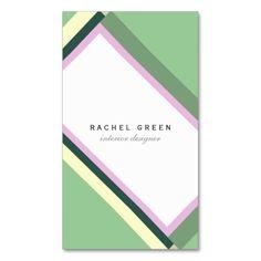 Green pink modern bauhaus retro simple minimalist visiting card #businesscard #visitcard