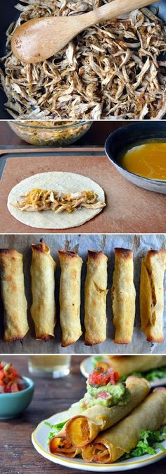 Food & Drink: BAKED CHICKEN & CHEESE TAQUITOS