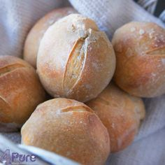 Rye whole wheat buns4Pure by Andrea