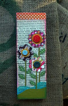 Mixed media bookmark