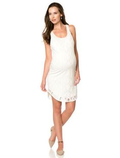 Destination Maternity Sleeveless Burnout Maternity Dress
