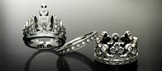 King and Queen wedding rings