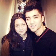 Zayn and his little sister Safaa recently! :) so adorable