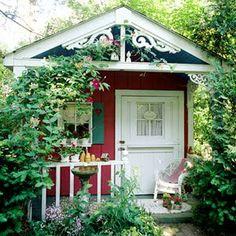 verbena cottage: Charming Garden Shed