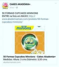 50 FORMAS CUPCAKES MINNIONS ENTRE na foto em BAIXO: http://www.akademiamais.com/produto/50-formas-cupcakes-minnions/