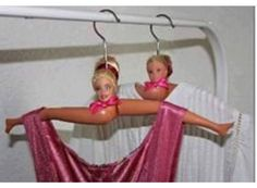 way to re-purpose those old Barbie Dolls!