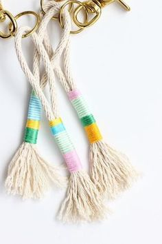 DIY Rope Tassel Keychains   Alice and Lois