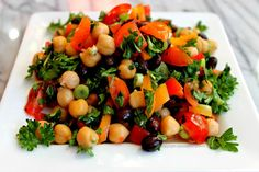 Chickpea & Black Bean Salad
