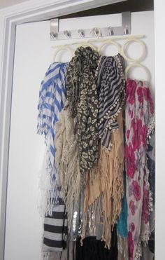 Seven Cherubs scarf storage Organizing Ideas, Storage Organization, Storage Ideas, Scarf Storage, Cherubs, Scarfs, Style Inspiration, Awesome, Garden