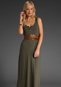 Military Green Maxi Dress - lots of options This is basically what I wear every day.