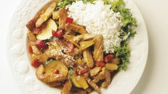 Svinekjøtt sweet and sour Caribbean Culture, Kung Pao Chicken, Wok, Stew, Entrees, Curry, Menu, Protein, Ethnic Recipes