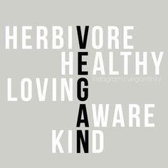Pro vegan, herbivore, healthy, loving, aware and kind. Quotes Vegan, Vegan Memes, Why Vegan, Vegan Vegetarian, Vegan Raw, Vegan Food, Vegetarian Quotes, Raw Food, Vegan Facts