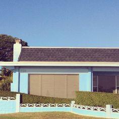 Blue house via @happymundane on instagram