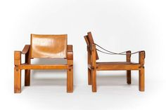 Pierre Chapo - Pair of Armchairs - PIERRE CHAPO - Collections - MAGEN H GALLERY