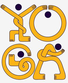 (secondo in alto a destra) A Vibrant Typeface Inspired By The Fluid Movements Of Yoga - DesignTAXI.com