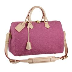Louis Vuitton Women Handbags Fashion Show Collections Speedy 35 Pink M40831.  ADORE this color