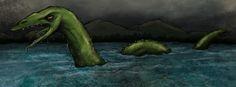 The Bear Lake Monster illustration by Michael Murdock.