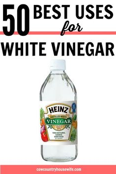 These are amazing! She finds amazing ways to use white vinegar that save money. Now you don't need to buy 50 different products, just buy one! Green cleaning is easy with white vinegar! 50 Best Uses for White Vinegar